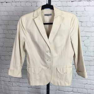 Ann Taylor Lined Blazer Jacket, Pockets & Cuffs